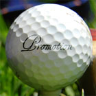 Promotion on a golf ball