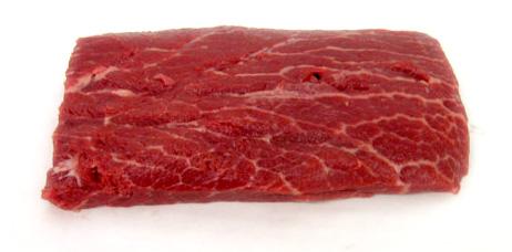 A close up of flat iron steak