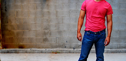 Red T Shirt and Jeans