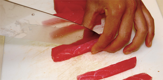 Cutting the Sashimi