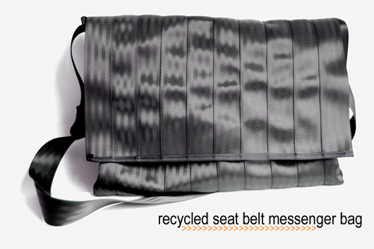 Seat Belt Messenger Bag