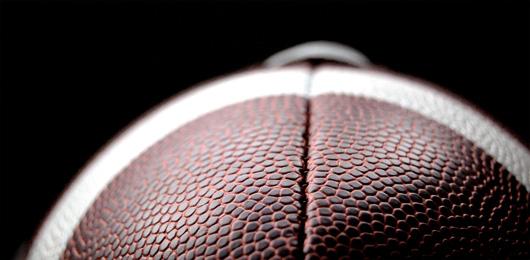 Closeup of football