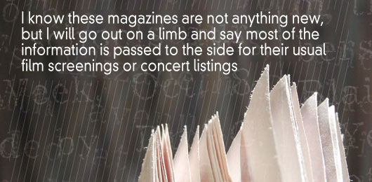 Article quote - I know these magazines are nothing new