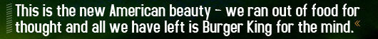 Article quote - this is the new american beauty