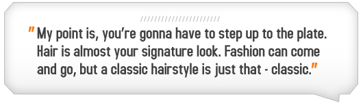 Article quote - Hair is almost your signature look