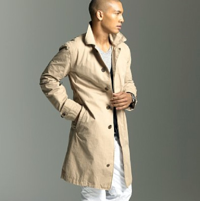 Man wearing a trench coat