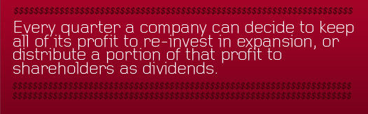 Article Text - Every quarter a company can decide to reinvest its profit
