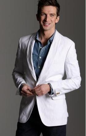 Slim linen blazer