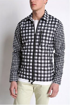 Man wearing a checked jacket