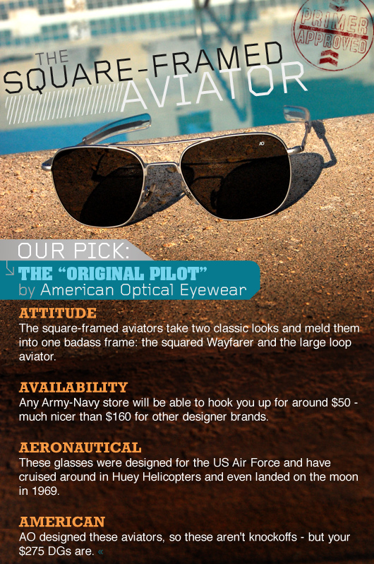 The original pilot by american optical eyewear infographic