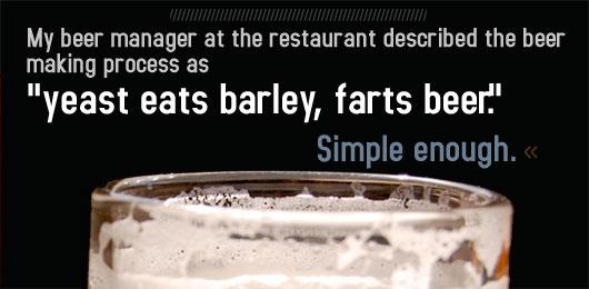 Article text - yeast eats barley, farts beer