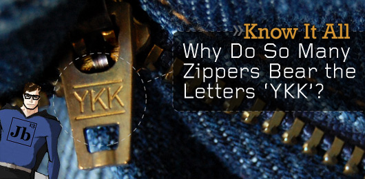 Why do zippers say ykk