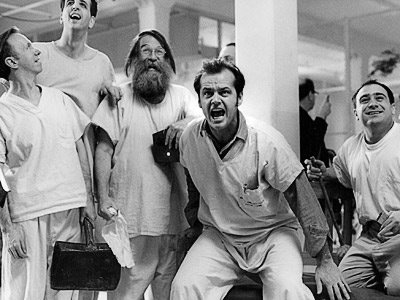 Jack Nicholson in one flew over the cukoo nest