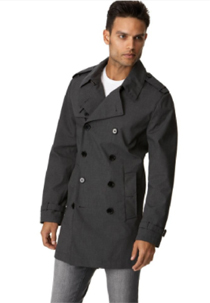 A man wearing a trench coat