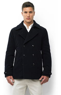 A man wearing a peacoat