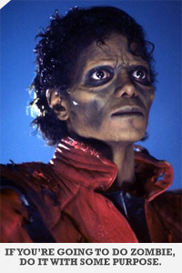Michael jackson as a zombie