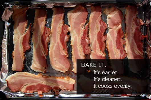Bake it - its easier, its cleaner, it cooks evenly