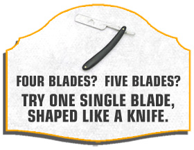 Text - four blades, five blades