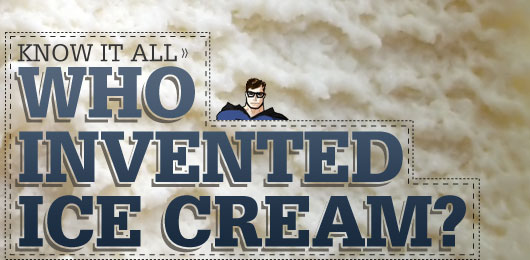 who invented ice cream