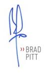 Brad Pitt signature