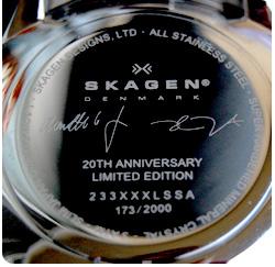 Back of a skagen watch