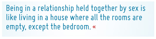 Article quote - Being in a relationship held together by sex