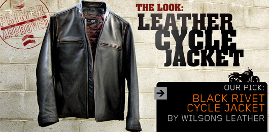 black rivet cycle jacket by wilsons leather