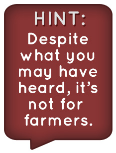 Text - Despite what you may have heard its not or farmers