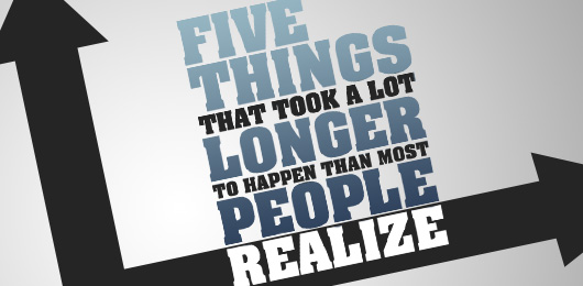 Five Things That Took a Lot Longer to Happen Than Most People Realize