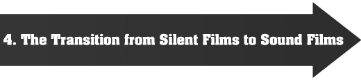 4. The transition from silent films to sound films