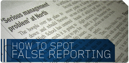How to Spot False Reporting