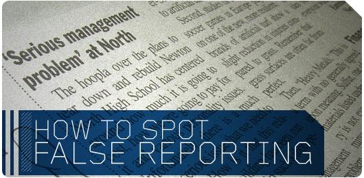 How to Spot False Reporting