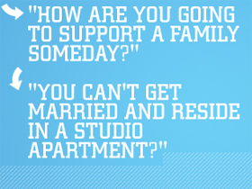 Text - how are you going to support a family someday