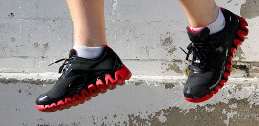 Man jumping in sneakers