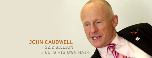 John Caudwell wearing a suit and tie