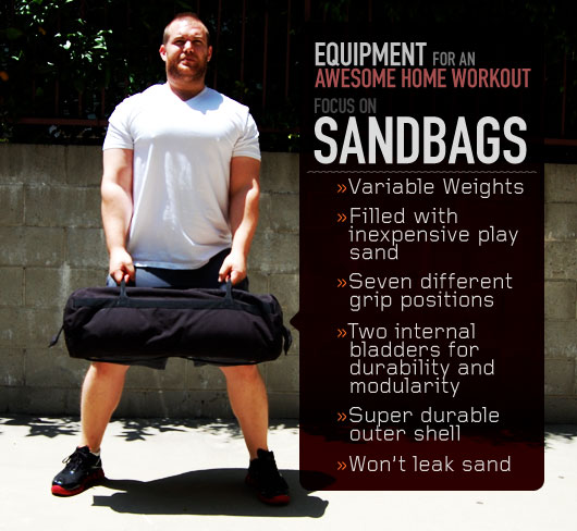 Equipment for an Awesome Home Workout: Focus on Sandbags