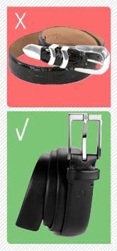 Western belt vs a dress belt