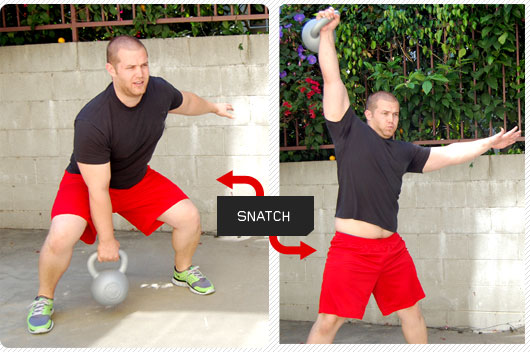 Man performing a snatch