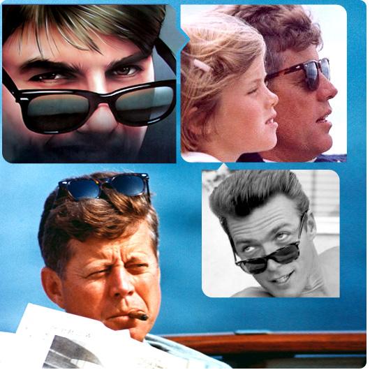John F. Kennedy et al. wearing wayfarers