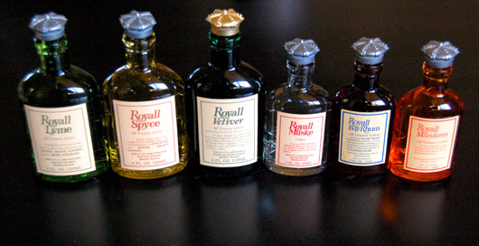 Royal Lyme cologne bottles