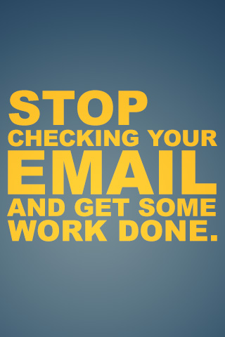 Stop checking your email and get some work done