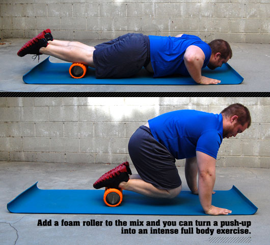 Man demonstrating a foam roller