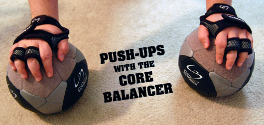 push ups with the core balancer
