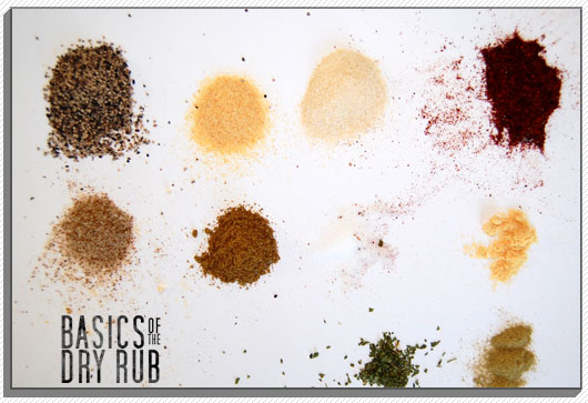 Dry rub powder ingredients