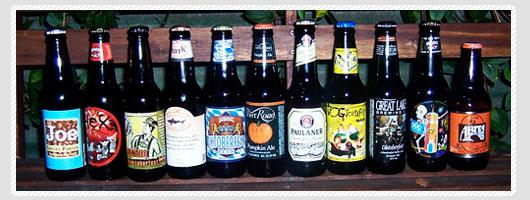 Fall beer bottles