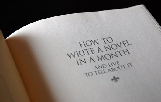 How to Write a Novel in a Month and Live to Tell About It