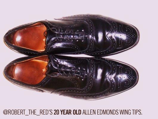 A reader\'s 20 year old allen edmonds wingtips