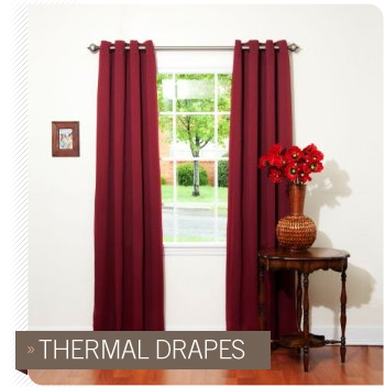 Thermal drapes in living room