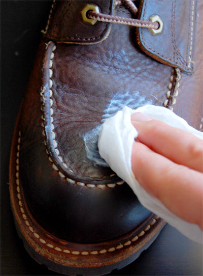 Coconut Oil And Leather Shoes