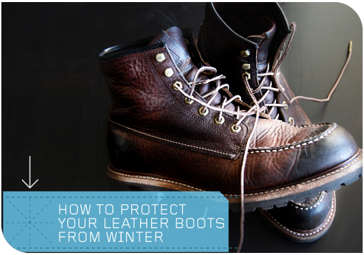 how to protect leather boots from winter
